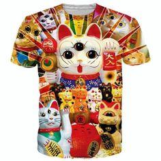 All Over Print Chinese Kitten T Shirt