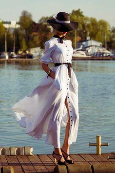 Купить Длинное платье в горошек - чёрно-белый, в горошек, платье, платье в пол, Платье нарядное