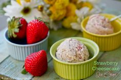 Strawberry Cheesecake Ice Cream- When I saw Simply Reem's Strawberry Cheesecake Ice Cream recipe, I knew this would be the first ice cream recipe that I wanted to try this summer.  I used to share a bowl of this ice cream at Cold Stone when I was dating boyfriend, now my husband.  We now have 2 children who enjoy this ice cream as much as we do.