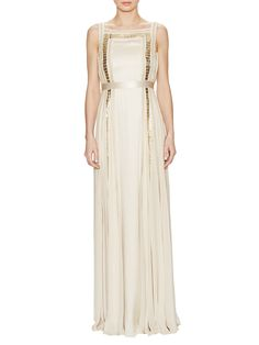 Embellished Ribbon Silk Gown from Temperley London on Gilt