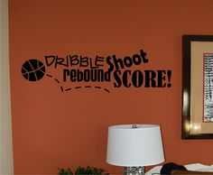 Basketball Vinyl Wall Decal by homesweetwalls on Etsy, $34.00