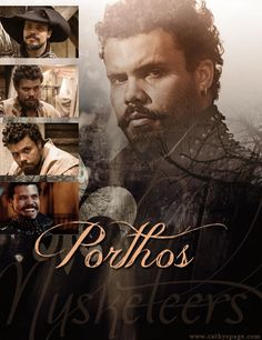 Porthos graphic that I created from the BBC series The Musketeers.