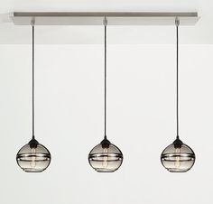 Banded Pendant Sets, Row of Three - By Hennepin Made - Pendants - Lighting - Room & Board