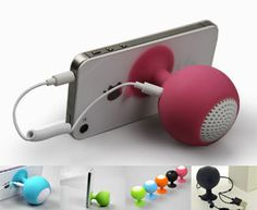 """iStand SP-200 - Cellphone suction speaker stand. A small speaker with big sound! Also doubles as a cellphone stand. 3.7V 300mAh  Size: 2.7"""" x 1.9"""" x1.9"""" #propelpromo"""