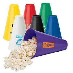 NEW Promotional Valumark VG2102 Megaphone #college #advertising #promoproducts / Popcorn Holder | Customized Toys | Promotional Valumark Toys