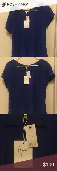 Joie blue silk blouse L Brand new with tags, gorgeous silk blouse Joie Tops Blouses