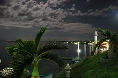 Vista desde el hotel Laguna Bacalar