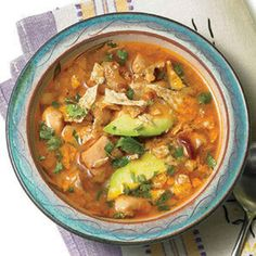 Crock pot Chicken Lime, Avocado, and Cilantro Soup. Love finding new and yummy Crock Pot recipes! Crock Pot Recipes, Crock Pot Cooking, Slow Cooker Recipes, Soup Recipes, Cooking Recipes, Healthy Recipes, Healthy Soups, Healthy Eating, Cooking Tips