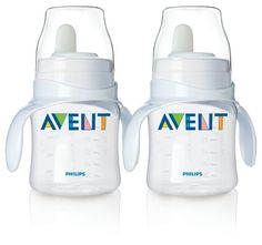 Philips Avent BPA Free Classic Bottle to First Cup Trainer 2 Pack  Clear >>> Learn more by visiting the image link.Note:It is affiliate link to Amazon.