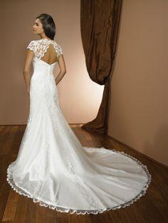 Love the elegant lace back.