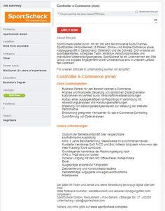 SportScheck stellt einen neuen Controller eCommerce ein! #sportscheck #sportjob #sportyjob