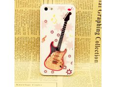 Cute Guitar Crystal iPhone 5 Case