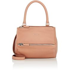Givenchy Women's Pandora Small Messenger ($1,790) ❤ liked on Polyvore featuring bags, messenger bags, nude, zip top bag, nude bag, strap bag and givenchy bags