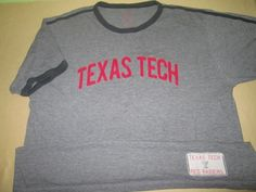 Texas Tech Red Raiders NCAA T Shirt XL- Gray - Banner Supply 47 Brand  Stitched  #47Brand #TexasTechRedRaiders