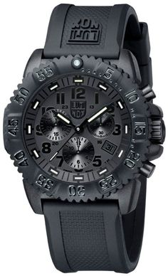 Luminox Rubber Strap Black Dial Men's Watch - 3081.BO