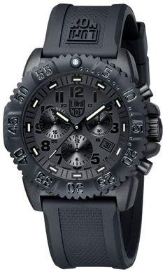 Luminox Rubber Strap Black Dial Men's Watch - 3081.BO