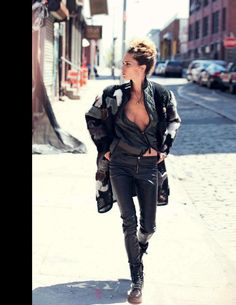 black is back: erin wasson by david bellemere for marie claire italia october 2014