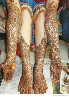 Beautiful Rajasthani Mehendi Designs for the Bride