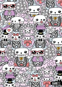 Cute Skeletons #kawaii #gkw