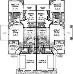 Bedroom Patio Door House Plans 56 Ideas For 2019 Duplex Floor Plans, Small Floor Plans, Small House Plans, House Floor Plans, Family House Plans, Dream House Plans, Home And Family, Family Houses, Dream Houses
