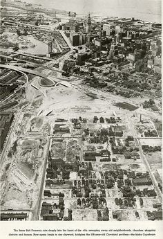 Cleveland - The Vintage Photo Thread; 1957 - Leveled Central neighborhood making way for I-77.