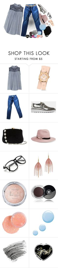 """Embroidered - outfit only"" by no-where-girl ❤ liked on Polyvore featuring Dorothy Perkins, Michele, 7 For All Mankind, STELLA McCARTNEY, Serpui, Eugenia Kim, Serefina, Chanel, Urban Decay and Topshop"