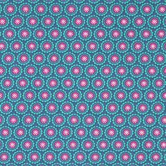 Cotton Flower Wheel 10 - Baumwolle - türkisblau