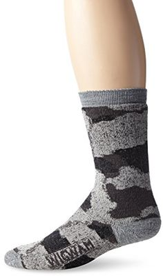 Wigwam Mens Merino Camo Hiking Sock Charcoal XLarge -- Check out this great product. This is an affiliate link.