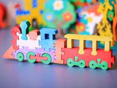 Puzzle Train. Wooden Toys, Wooden Puzzle, Eco-friendly Handmade Toys For Babies…