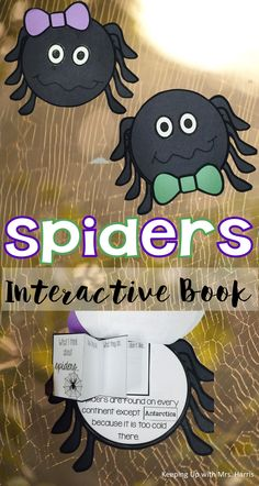 Let's add a little fun to your spider unit by making learning interactive. This interactive spider book will have your students crawling with excitement. The spider book includes nonfiction text about spiders and allows your students to make the book interactive with tab books, flap books, and stackable.