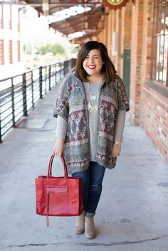 Fall outfit idea, Aeropostale sweater, Rebecca Minkoff MAB Tote, booties, Old Navy jeans