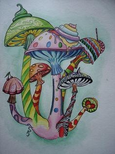 Drawn mushroom psychedelic mushroom - pin to your gallery. Explore what was found for the drawn mushroom psychedelic mushroom Trippy Drawings, Doodle Drawings, Doodle Art, Pencil Drawings, Mushroom Drawing, Mushroom Art, Psychedelic Art, Zantangle Art, Trippy Mushrooms