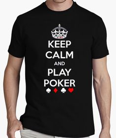 Camiseta Keep Clam and Play Poker MC - nº 356239 - Camisetas latostadora