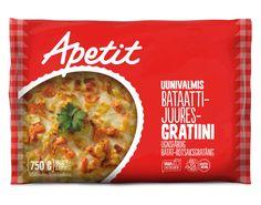 Resepti - Uunimakkara bataatti-juuresgratiinilla - Apetit Snack Recipes, Snacks, Chips, Keto, Food, Snack Mix Recipes, Appetizer Recipes, Appetizers, Potato Chip