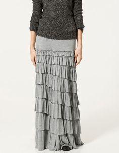 Knit Tiered Beach Skirt from Garnet Hill. (Love long, loose skirts ...