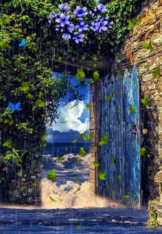 Wallpaper Nature Flowers, Beautiful Landscape Wallpaper, Beautiful Flowers Wallpapers, Scenery Wallpaper, Beautiful Landscapes, Beautiful Photos Of Nature, Beautiful Fantasy Art, Beautiful Gif, Paradis Tropical