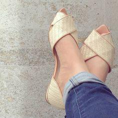 Palha - Pêssego - Guilhermina Shoes - Verão