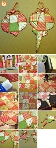 Quilted Paper Embellies