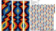 Жгут из бисера в технике мозаичное плетение. Схема жгута из бисера. | Шкатулка рукоделия