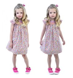 Liberty Smocked Sleeveless Dress Pink/Blue Floral by Rock Your Baby