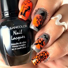 Halloween 2017 #nails #sexynails #nailstamping #nailart #spookynails #witch #halloweennails