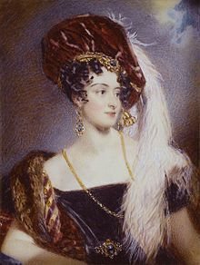 Sarah Villiers, Countess of Jersey - patroness of Almack's during the Regency.  By Alfred Edward Chalon