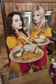 2 Broke Girls  I love this show! I would never want to eat there, but the characters are hilarious and spunky.