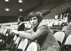 Charlie Watts sitting in the audience seats during the rehearsal for the film The T. Show at the Santa Monica Civic Auditorium in California on October Charlie Watts, Charming Man, Keith Richards, My Darling, Unique Photo, Rolling Stones, The Beatles, Rock N Roll, Blues