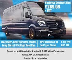 Mercedes-Benz Sprinter 314CDI Long Diesel 3.5t High Roof Van