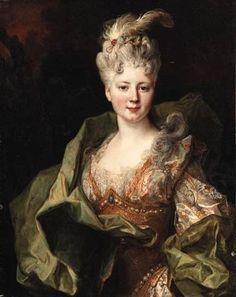 ca. 1715 (estimated) Jeanne Gagne de Perrigny by Nicolas de Largilière (auctioned by Christie's)