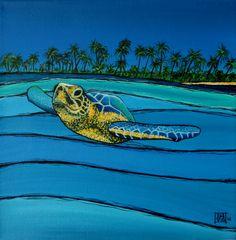 #sea turtle #glidegirl #surfart #surf #art #surfing #painting #waveart  #waves #surfergirl #surfer #reosurfer #Hawaii #wave #surfboard #pipe #manly