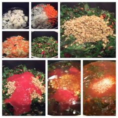 Swiss Chard & Lentils Soup Cooking Steps