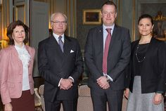 Today, The King, Queen and Crown Princess Victoria hosted a lunch for Minister Anders Ygeman.17/02/2015