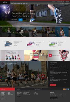 Free Sports Website PSD Template